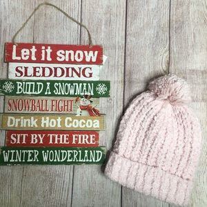 3/$25 Collection 18 Pink Chenille Pom Pom Beanie
